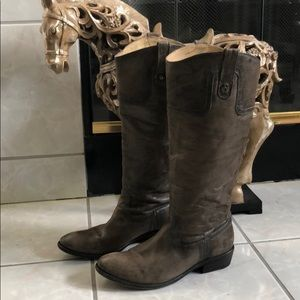 WOMENS FRYE CARSON 77204 TALL LEATHER BOOTS